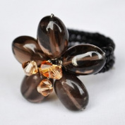 Smoky Quartz Gem Stone Ring Free Size 100% Handmade by Flower GemStone