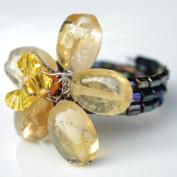 Citrine Flower Gemstone Ring by Flower GemStone