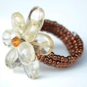 Topaz Flower Gemstone Ring by Flower GemStone