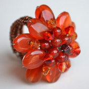 Carnelian Flower Gemstone Ring by Flower GemStone