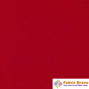 Red 150cm Wide Premium Woven Poly Poplin Fabric By the Yard