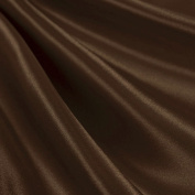 Brown Satin Fabric 150cm Inch Wide - By the Yard - For Weddings, Decor, Gowns, Sheets, Costumes, Dresses, Etc