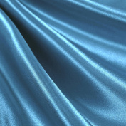 Turquoise Satin Fabric 150cm Inch Wide - By the Yard - For Weddings, Decor, Gowns, Sheets, Costumes, Dresses, Etc
