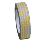 Maya Road Gingham Fabric Tape, Sun Yellow