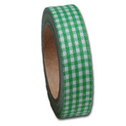 Maya Road Gingham Fabric Tape, Leaf Green