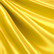 Yellow Satin Fabric 150cm Inch Wide - By the Yard - For Weddings, Decor, Gowns, Sheets, Costumes, Dresses, Etc
