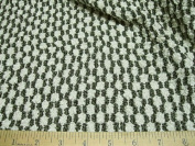 Fabric Stretch Mesh Black and White Pucker Lace 62 ' wide LC327