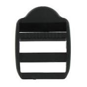 Strap Adjuster Black 2.5cm 6pcs/pkg
