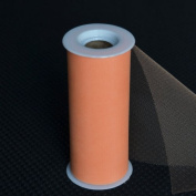 Premium Tulle on Spool (15cm Wide x 25 Yards Long) - Peach