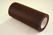 15cm Dark Brown Craft Tulle Roll 25 Yards