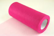 15cm Fuchsia Craft Tulle Roll 25 Yards