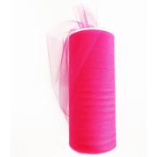 TULLE Fabric 15cm Spool 25 Yards Fuchsia colour