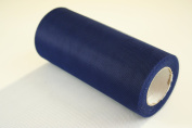 15cm Navy Blue Craft Tulle Roll 25 Yards