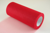 15cm Red Craft Tulle Roll 25 Yards