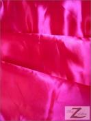 SOLID SATIN FABRIC - FUCHSIA - 150cm WIDTH - SOLD BTY