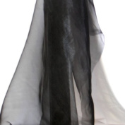 Organza fabric 11 - black - by the metre