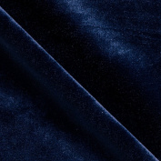 Stretch Velvet Navy Fabric