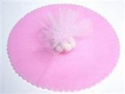 Pink Tulle Circles with Scalloped Edge 23cm