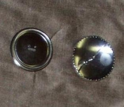 3 of Half Ball Aluminium Buttons to Cover with Fabric, 2.5cm - 1.3cm Diameter