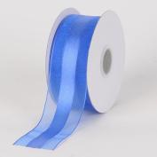 Royal Blue Organza Ribbon Satin Centre 1.6cm 25 Yards