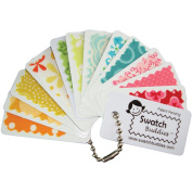 Swatch Buddies Fabric Fan 12/Pkg-White