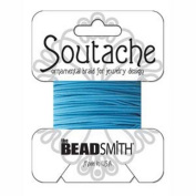Beadsmith Soutache Braided Cord 3mm Wide - Tyrol Blue