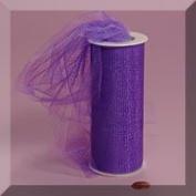 Purple 15cm X 25 Yds Glimmer/Shimmer Tulle Roll