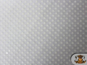 Small Dots Sequin White 110cm Wide / Sold By the Yard