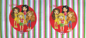 110cm Lil Bratz Dolls Stripe Pillow Cotton Fabric By The Panel