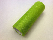 15cm Tulle 10 yard Spool Glitter Apple Green from The Fabric Exchange ®