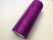 15cm Tulle 10 yard Spool Glitter Purple from The Fabric Exchange ®