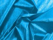 Aqua Metallic Lame Fabric 110cm By the Yard