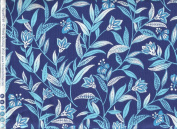 Blue Castillija (Indian Paintbrush) With Foliage and Spores ~ HALF YARD ~ Quilt Fabric by Blank Quilting 6749 Belaire Blue Quilt Fabric 100% Cotton 110cm Wide