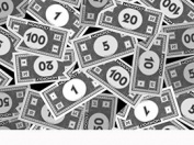 110cm Wide MONOPOLY Game Money Cotton Fabric BY THE HALF YARD