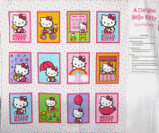 110cm Wide Hello Kitty Soft Book Cotton Fabric By The Panel