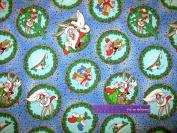 110cm Wide Bugs Bunny Santa Cotton Fabric BY THE HALF YARD