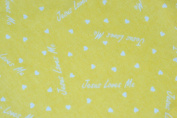 Sunshine Yellow Jesus Loves Me 100% Cotton Flannel Baby Fabric By the Yard Made in USA Christian