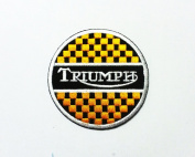 Triumph Motorcycle -Embroidered Iron-on Biker Patch