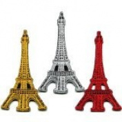 Lot of 3 Eiffel Tower Paris France Retro Boho Europe Appliques Iron-on Patches Handmade Design From Thailand
