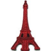 Eiffel Tower Paris France Retro Applique Iron-on Patch Handmade Design From Thailand