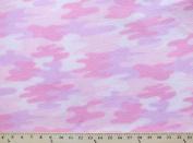 VelvaFleece Camo Pink Camouflage Fleece Fabric Print by the yard