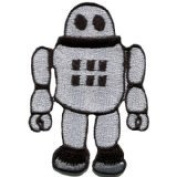 Robot Android Cyborg Bionic Automaton Sci-fi Applique Iron-on Patch New S-294 Handmade Design From Thailand