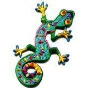 Lizard Gekko Salamander Retro Hippie Hippy Boho 70s Applique Iron-on Patch S-189 Handmade Design From Thailand...