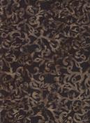 Blank Quilting Sumatra Black Brown Scroll Batik 6552 Black Quilt Fabric 100% Cotton 110cm Wide - HALF YARD