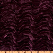 Mackenzie Satin Ribbon Scallop Purple Fabric