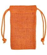 7.6cm x 13cm Orange Jute Favour Bags - 12 Pack