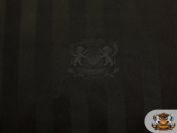 Satin Glossy Stripe Fabric BLACK / 150cm Wide / Sold by the yard