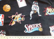150cm NBA Philadelphia 76ers Chequered Fleece By The Yard