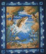 Tournament Beaver Lake By General Fabrics - 100% Cotton, 90cm x 110cm Panel