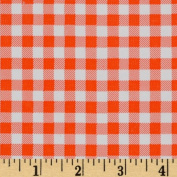 Oil Cloth Gingham Orange Fabric